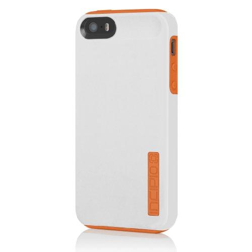 Incipio DualPro Case for iPhone 5S - Retail Packaging - White/Orange