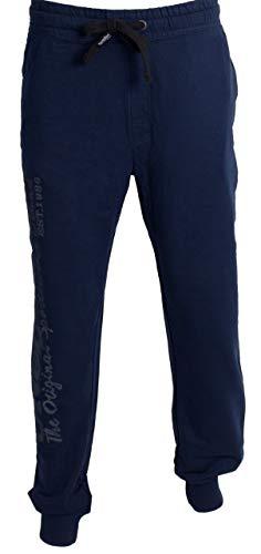 Uncle Sam Herren Jogginghose Bodyhose Sweatpants Sporthose mit Rippbündchen, Größe:L, Farbe:Black Iris