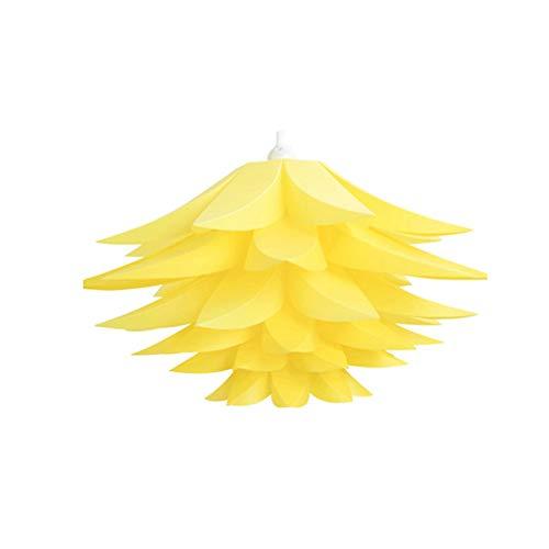 Accesorios de iluminación   DIY Puzzle Pantalla Lámpara de techo Diseño Lotus Lámpara de techo Cubierta de luz colgante Decoración del hogar   Amarillo