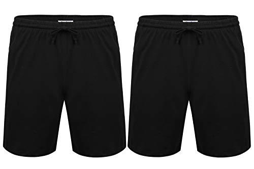 Aibrou Pantalon Pijama Corto Hombre Salón Pantalones Cortos Elástico Verano de...