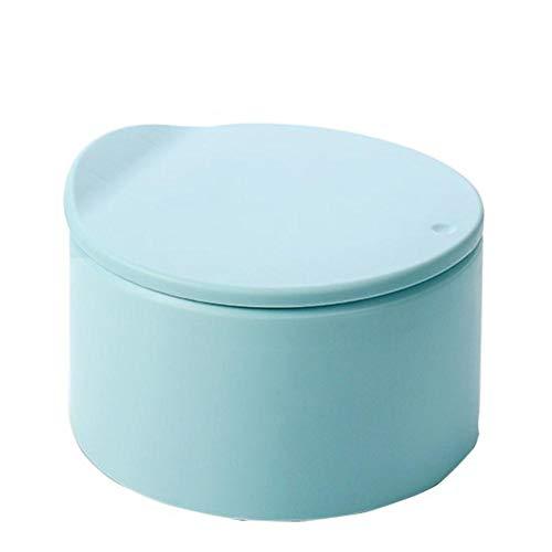 Escritorio Mini Bote de basura Prensa pequeña para el hogar con tapa Mesa de centro creativa Escritorio Oficina Sala de estar Papelera Almacenamiento-Azul, CN