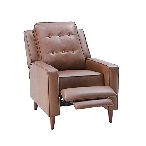 Inactividad y Lectura únicas, idéntico digno para Ver la televisión, reposapiés Extensible y función de inclinación, sillón Manual, sillón reclinable de Cuero Sillón reclinable Suave y rel
