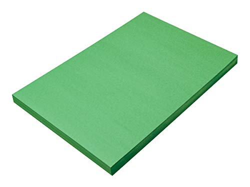 """SunWorks Construction Paper, Holiday Green,  12"""" x 18"""", 100 Sheets"""
