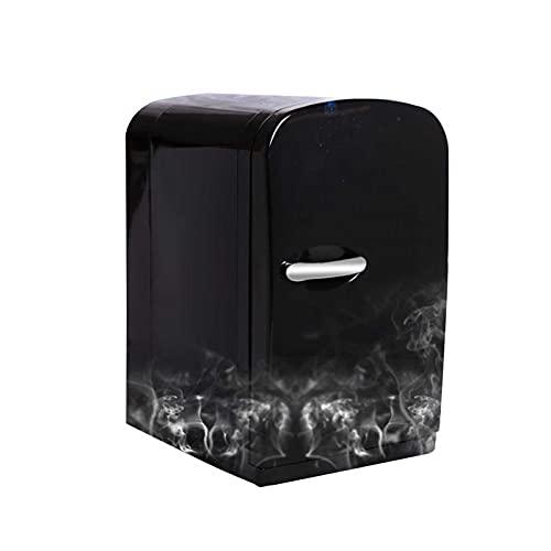Mini Refrigerador Compacto Portátil De 6 litros Y Calentador Personal Refrigerador Pequeño para El Hogar/Refrigerador para Automóvil/Refrigerador para Bebidas, Negro