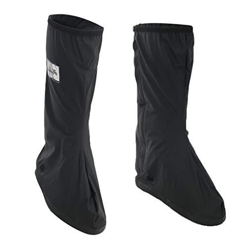sharprepublic Wiederverwendbare wasserdichte Überschuhe Rain Boot Anti Rutsch Überschuhe Rain Boot Gear - Schwarz, XL