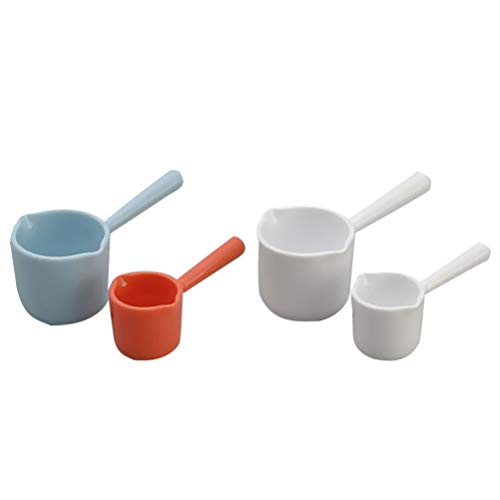 Cabilock 4 Pezzi Cucchiaio in Polvere Cucchiaio da Cucina Cucchiaio di Plastica Cucchiaio da Caffè Cucchiaio da Dessert Cucchiaini da Tè (Colore Casuale)
