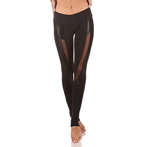 RUI Sportswear-panty & leggings voor dames Sexy kunstleer stijl sport nieuw PU korte broek yogabroek mesh gaas leggings spandex broek