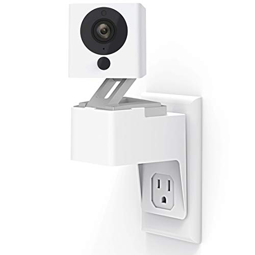 for Wyze Cam Pan/Wyze Cam Outlet Wall Mount, Upgraded 360 Degree Swivel AC Outlet Wall Plug Mount Stand Holder Bracket for Wyze Cam Home Security Without Messy Wires or Wall Damage (wyze cam)