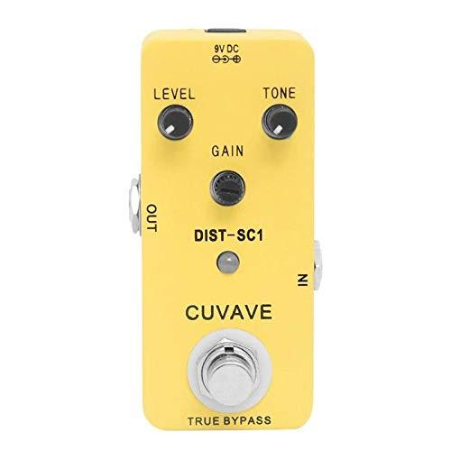 CUVAVE DIST-SC1 aleación de zinc disTorsión efecto de guitarra pedal con True bypass Guitar Parts
