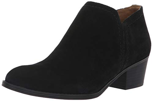 Naturalizer Women's Zarie Ankle Boot, Black Suede, 7.5 M US