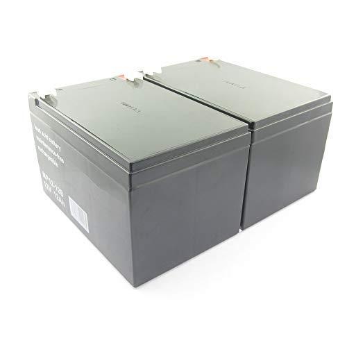 MTXtec vervangende accu voor UPS APC Back UPS 600 (2 enkele batterijen)