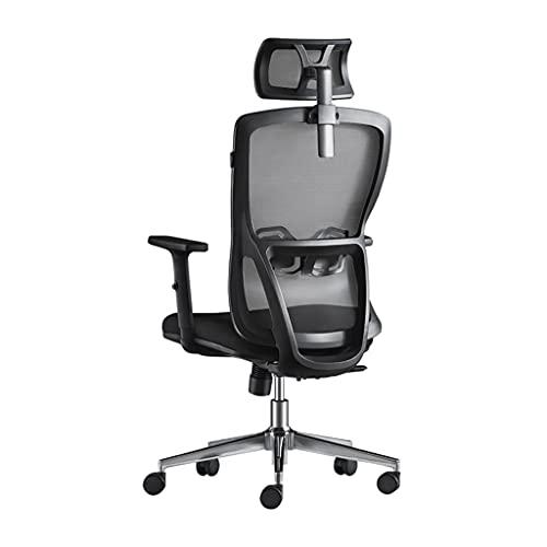 Sillas de Oficina ergonómica computadora doméstica de elevación y rotación cómoda Oficina reclinada sedentaria (Color : Black, Size : 66 * 66 * 135.5cm)
