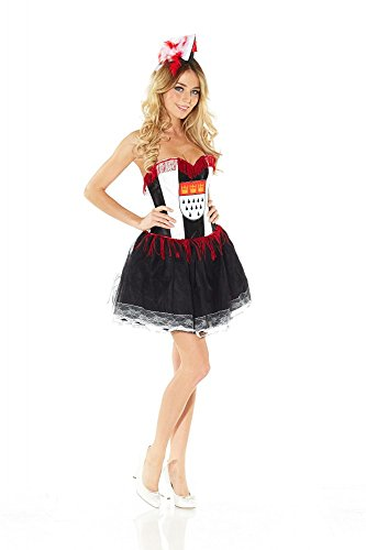 shoperama Korsagen-Kleid mit Köln-Wappen KÖLSCH MÄDCHE , Größe:S