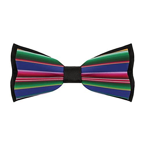 Pajaritas preatadas para hombre, ajustable, elegante, para bodas, fiestas, accesorios de negocios (brillante y feliz mexicano)