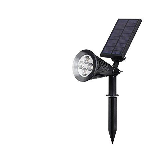 Lampada Solare Prato,T-SUNRISE 2-in-1 luce solare led esterno, 180 angolo regolabile, Auto-on / off, IP65 Impermeabile 4 LED Faretti Solari, Luci per Casa, Giardino, Cortile, Albero