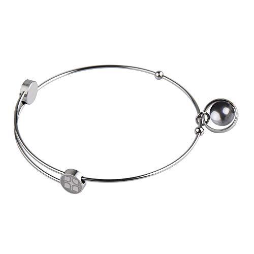 Ernstes Design Armreif Edelstahl A214 BLP mit Anhänger Perle Armband
