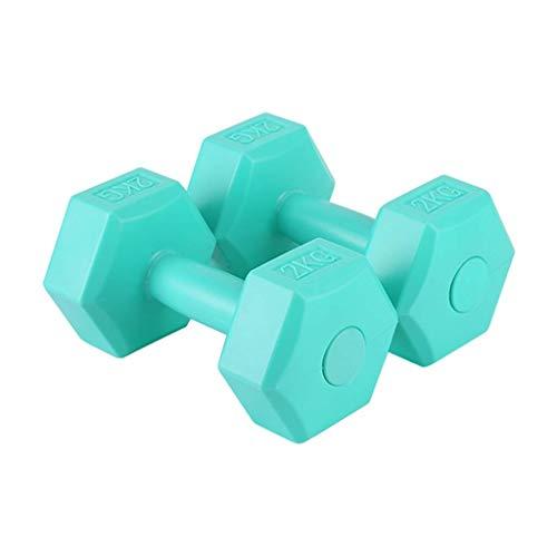 ALBN Mancuernas pequeñas, un par de mancuernas de brazo adelgazantes para el hogar, fitness, yoga, equipo de pérdida de peso para principiantes y niños y niñas (color: verde, tamaño: 4 kg)