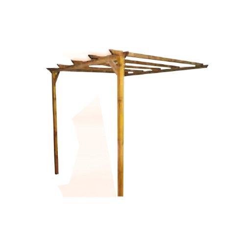 PAPILLON Pergola libera in legno di pino impregnato montante Cm 90x90