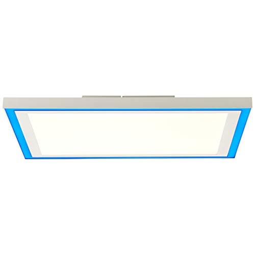 BRILLIANT lámpara Lanette LED panel de techo 40x40cm blanco  1x LED de 25 W integrado, (2470lm, 2700-6500K)  Escala A ++ a E  Luz de marco RGB para iluminación de acento colorida