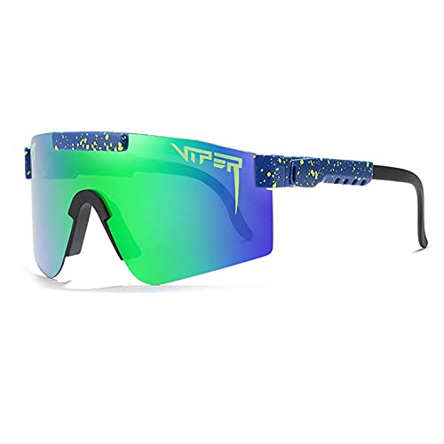 Gafas de sol deportivas polarizadas, lente TR90 marco UV400 lente de ciclismo para hombres y mujeres, senderismo, escalada, correr, al aire libre, resistente al viento (C12)