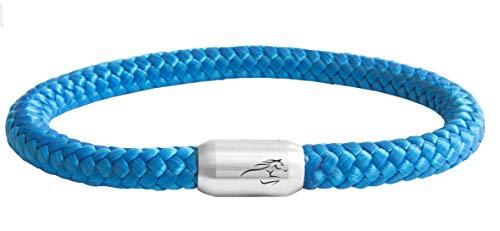 Unbekannt  Paris Montana Das Original Reitsport Pferde Jockey Club Segeltau Armband Mit Pferde Gravur Handmade Hochwertiger Magnetverschluss Durchmesser 8mm (Royal Blau, 22)