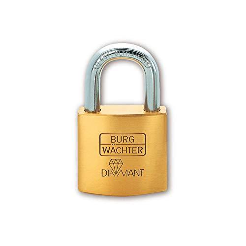 Burg-Wächter Vorhängeschloss, Diamant D 600 50, Inkl. 2 Schlüssel, Bügelstärke: 9 mm