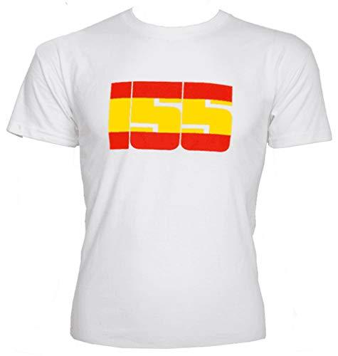 Camiseta Bandera España 155 Blanca
