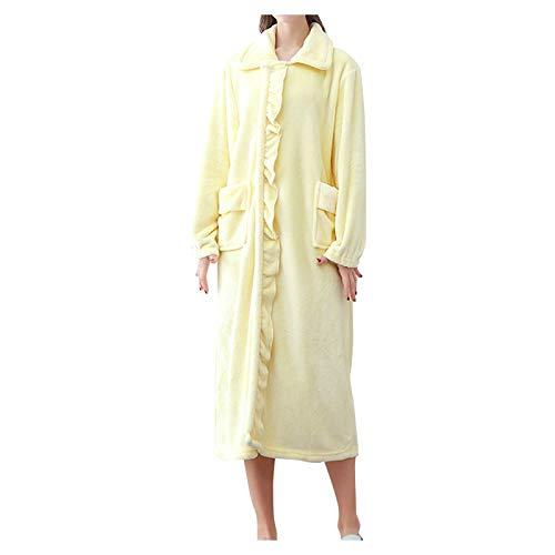 smonke Damen Mid-Length Robe Bathrobes Damen Morgenmantel Shaggy weichen Mädchen...