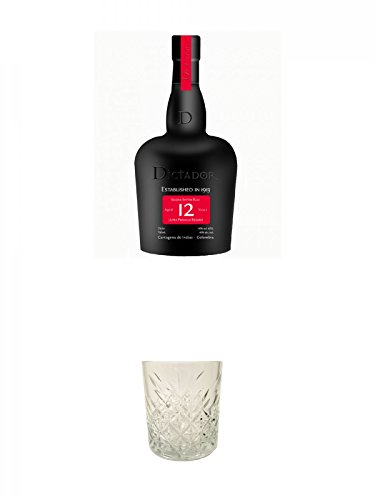 Dictador Solera System Rum 12 Jahre Kolumbien 0,7 Liter + Dictador Rum Glas 1 Stück