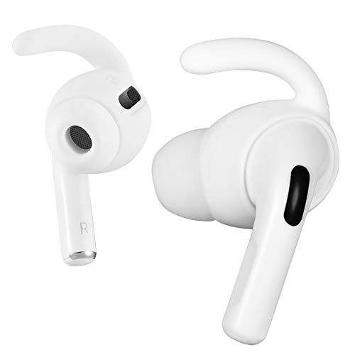 3 Pairs Ear Hooks Compatible with Apple AirPods Pro, ICARERSPACE Anti-Lost Ear Hooks Ear Covers for Apple AirPods Pro AirPods 3 [with Storage Pouch] - White