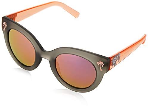 Roxy Havalina-L Sonnenbrille für Mädchen, 8-16, Grey/Orange-Combo, FR (Herstellergröße: 1SZ)