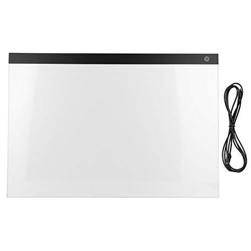 A2 Tablero de copia LED Cuadro de almohadilla de luz Mesa de copiado Tablero de dibujo USB Tablero de luz de seguimiento Tablero de plantilla de arte Tablero de dibujo para copiar Tablero de mesa para ✅