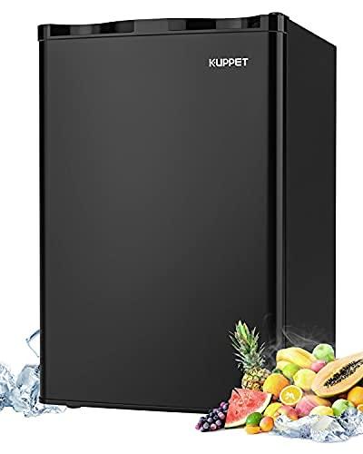 Mini Refrigerator Compact Refrigerator-Small Drink Food Storage Machine for Dorm, Garage, Camper, Basement or Office, Single Door Mini Fridge, 4.5 Cu.Ft,Black