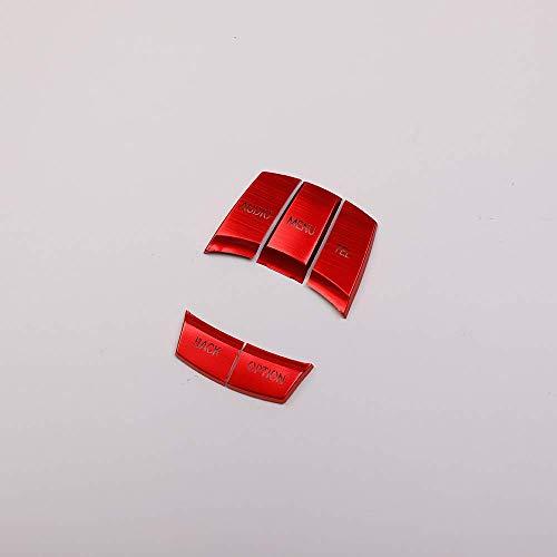 Accessoire intérieur véhicule Bouton Cache Support multimédia Voiture Rouge