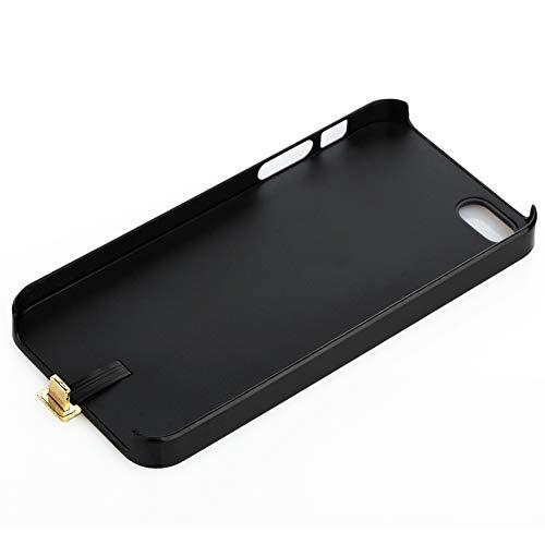 TEFIRE Wireless-Ladeempfänger-Kasten-Kompatibel für iPhone5 / 5S / SE-Rückseiten-Abdeckung mit dem Aufladen-Empfänger-Hafen (Schwarz)