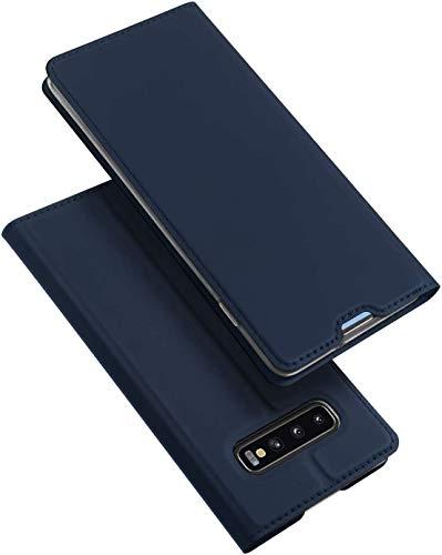 """DUX DUCIS Coque Samsung Galaxy S10+ Plus, Premium Étui Housse en Cuir de Protection pour Samsung Galaxy S10+ Plus 6,4"""" (Bleu Profond)"""