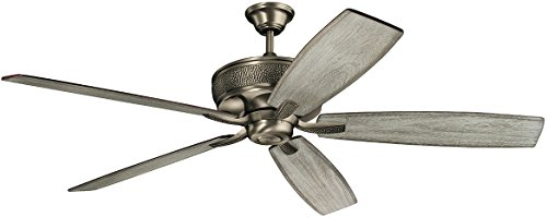 """Kichler 300206BAP Monarch 70"""" Ceiling Fan with Wall Control, Burnished Antique Pewter"""