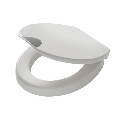 Tiger Toilettensitz Comfort Care, WC-Sitz mit 5 cm Sitzerhöhung und Absenkautomatik, Farbe: weiß, extra stabile Befestigung