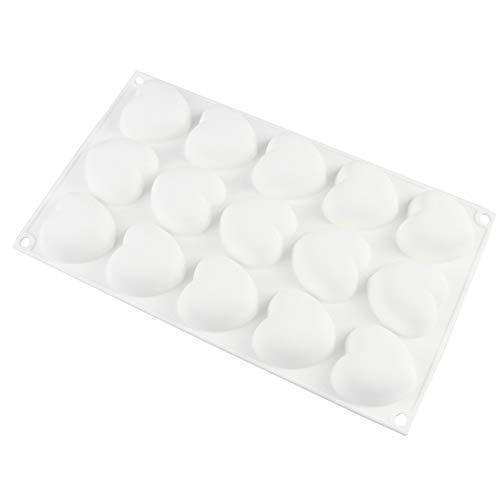 Molde de silicona de 15 agujeros para chocolate y torta de chocolate, gelatina, domo, mousse, jalea, pudín, jabón, forma redonda, sin BPA, molde para hornear