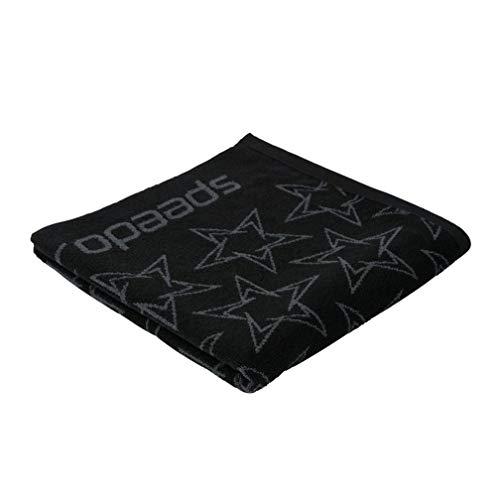 Speedo Unisex's BoomStar Allover Handdoek, Jet Zwart/Oxid Grijs, One Size