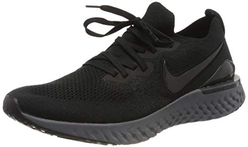 Nike Men's Epic React Flyknit 2 Running Shoes(Black/Anthracite,9.5,D (M) US)
