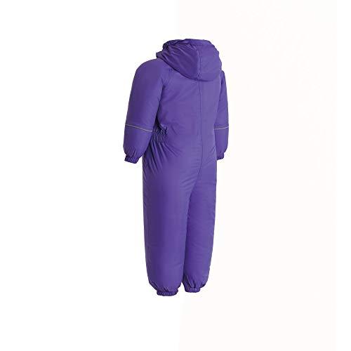 Regatta Kids Splosh III Waterproof & Breathable Insulated All-In-One Outdoor Rain Suit, Purple (Peony), 36-48 months (Manufacturer size:XL)