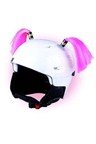 Crazy Ears Helm-Accessoires Zöpfe. Ski-Ohren geeignet für Skihelm Motorradhelm Fahrradhelm und vieles mehr. Helm Dekoration für Kinder und Erwachsene, CrazyEars:Zöpfe Pink