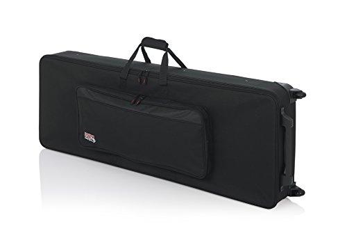 GATOR GK-76 - Funda para piano y teclado, 51 x 142,5 x 23,5 cm (con ruedas), color negro, 76 llaves