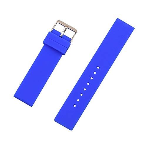 Duradero 12 mm 14 mm 16 mm 18 mm 20 mm 22 mm 24 mm Reemplazo de silicona Reloj Correa de banda de goma universal Reloj de reloj de reloj de relojes Accesorios de brazalete Herramienta de correa de rel