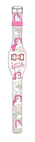 Kids Licensing Orologio Digitale a LED con Cinturino in Silicone, Motivo: unicorni (KL10101) 1