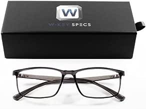W-Key Specs Gen-W Blue Light Blocking | Mens | Womens | Computer | Gaming | 100% UV Protection | Reduce Digital Eyestrain | Anti Glare | New for 2021 (Gen-W, Smoke)