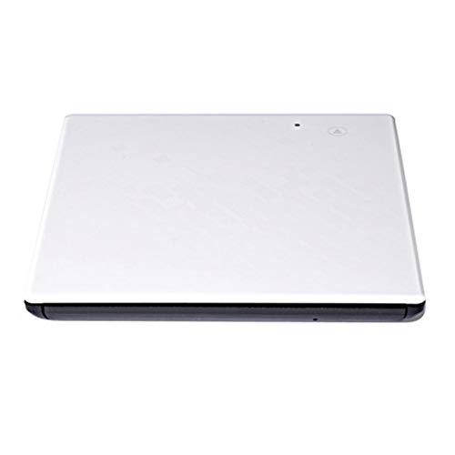 LXXL Externer Brenner mit USB 3.0, DVD, 3.0 USB, mobiler Brenner, ultradünn, Touch-Taste, vollständig kompatibel, ohne Treiber, keine Fingerabdrücke, Systeminstallation – Weiß