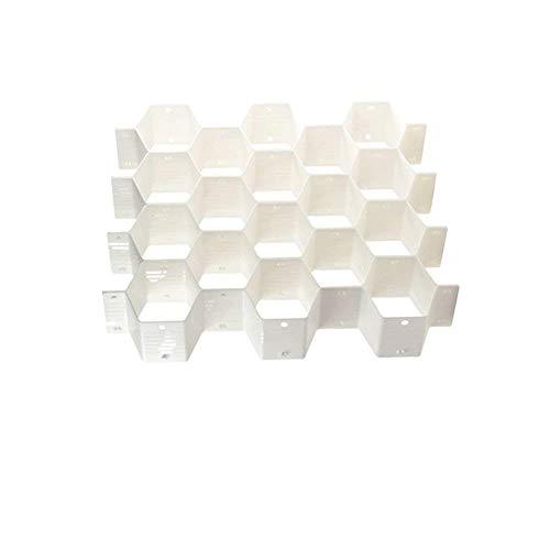 Onerbuy 8 unids DIY Honeycomb Closet Organizador Divisores Del Cajón de Partición de Plástico Armario Cajas de Almacenamiento de la Ropa Interior para la Ropa Interior Calcetines Bras Pañuelos Cinturo