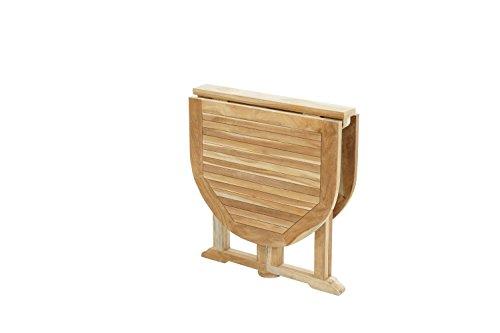 Ploß Ploß Outdoor furniture Vancouver Balkontisch, Eco Teak Natur, 120 x 70 x 75 cm